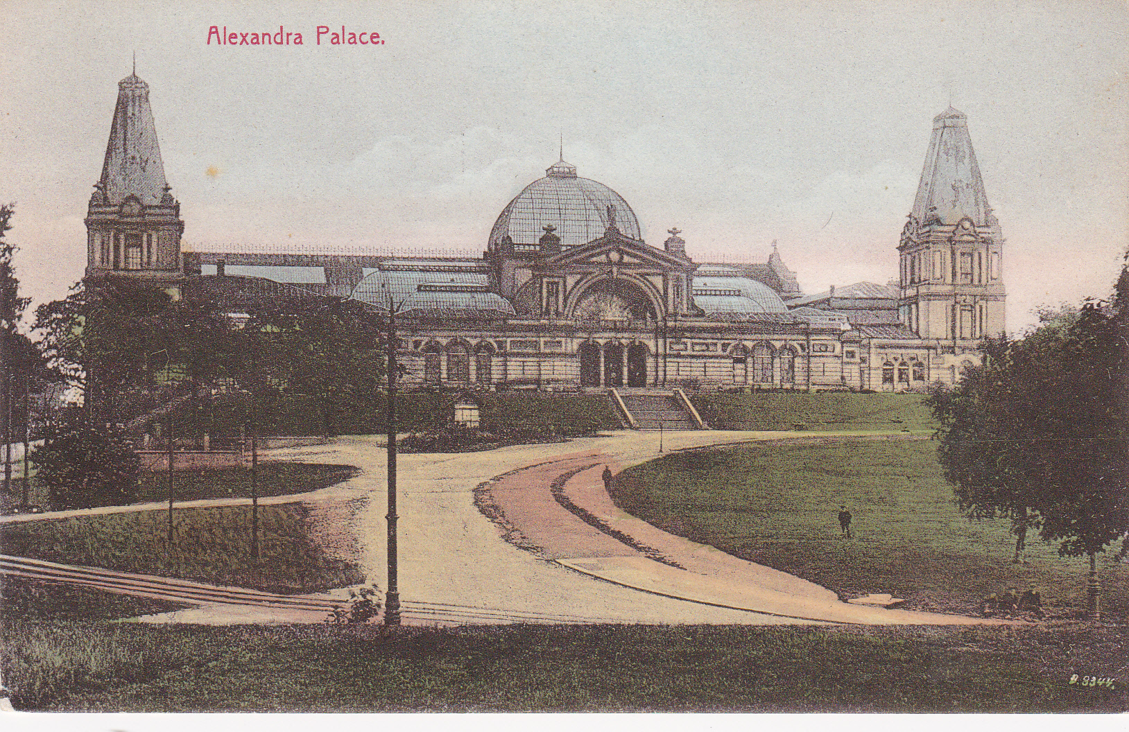 Alexandra Palace in 1875, rebuilt after the fire that destroyed it 2 weeks after its completion in 1873.