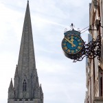 Langton Clock with St James Church's spire