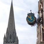 Langton Clock with St James Church's spire
