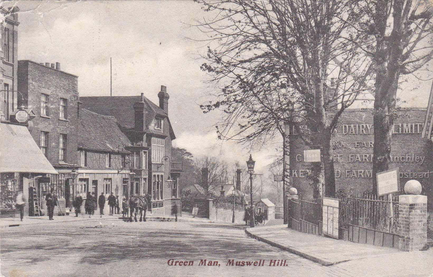 Green Man Pub Muswell Hill 1909