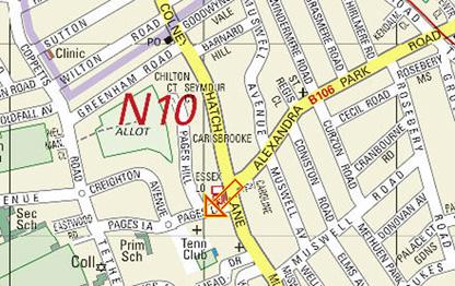 North Bank Map(10a)